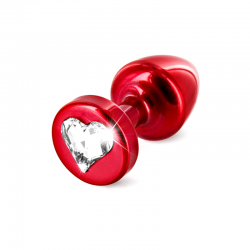 Анальная пробка - Anni R Heart Red Cristal, цвет: красный