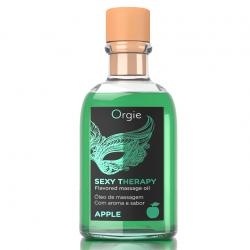 Набор: съедобное массажное масло + перо, Яблоко Orgie