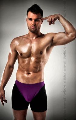 009 THONG violet - Украшение мужского тела, цвет: фиолетово-черный