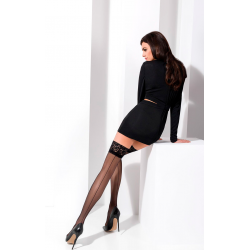 Чулки ST022 - К платью, костюму и корсету, цвет: черный