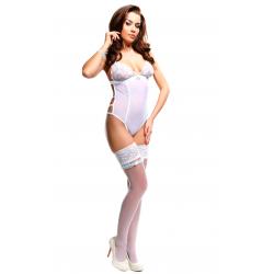 Оригинальная эротика - Сексуальное боди - Simone White Demoniq, цвет: белый