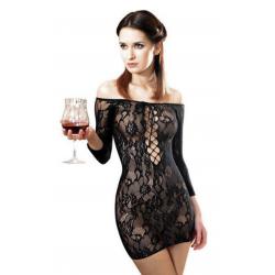 Платье с эффектом афродизиака - Платье сетка Anne De Ales FETISH DINNER Black XL//-S/M-//-M/L-//