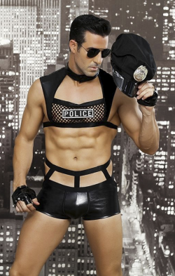 """Мужской эротический костюм полицейского """"Капитан Беспринципность"""" - Подчинение и страсть"""