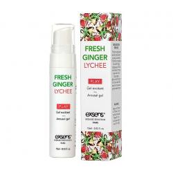 Имбирь и личи - Стимулирующий гель EXSENS Kissable Fresh Ginger Litchi 15мл