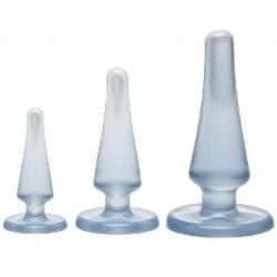 Для любителей разных размеров - Doc Johnson Crystal Jellies Anal Initiation Kit - Clear