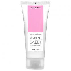 Введение со сладким ароматом - Лубрикант на водной основе MixGliss SWEET BUBBLE GUM (70 мл)