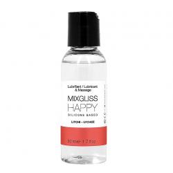 Игры с ароматом личи - Лубрикант на силиконовой основе MixGliss HAPPY - LITCHI (50 мл)
