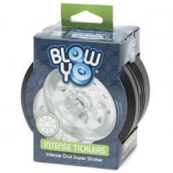 Мастурбатор BlowYo ИНТЕНСИВНАЯ СТИМУЛЯЦИЯ - Одна игрушка, двойная стимуляция, цвет: прозрачный
