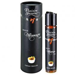 Смягчает, увлажняет, возбуждает - Массажное масло Plaisirs Secrets Creme Brulee (59 мл)