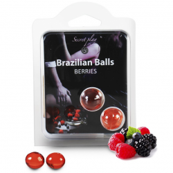 Набор шариков с массажным маслом 2 BERRIES BRAZILIAN BALLS SET