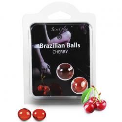 Набор шариков с массажным маслом 2 CHERRY BRAZILIAN BALLS SET