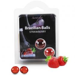 Набор шариков с массажным маслом 2 STRAWBERRY BRAZILIAN BALLS SET