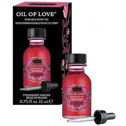 Незабываемые касания - Масло для эрогенных зон с ароматом клубники Oil of Love 22 ml