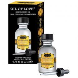 Экзотика и нежность - Массажное масло с ароматом  кокоса и ананаса Oil of Love 22 ml