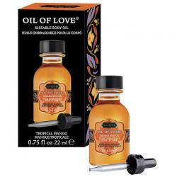 Тропические ласки - Массажное масло с ароматом тропического манго Oil of Love 22 ml