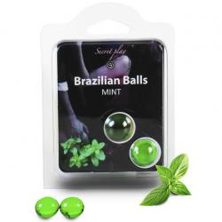 Мятное наслаждение - Набор шариков с массажным маслом 2 MINT BRAZILIAN BALLS SET