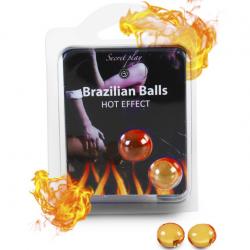 Жаркая прелюдия - Набор шариков с массажным маслом 2 HOT EFECT BRAZILIAN BALLS SET