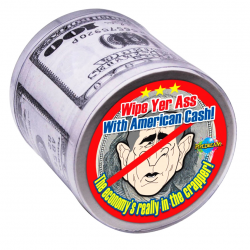 Бумага для миллионера - Прикол для розыгрыша, туалетная бумага WIPE ASS WITH AMERICAN CASH