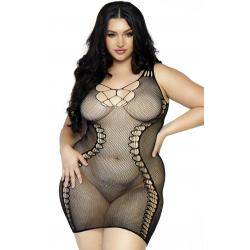 Платье для особых случаев - Сексуальное платье-сетка Hourglass mini dress +, цвет: черный