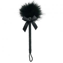 Нежнейшее касание страсти - Метелочка - Sportsheets Midnight Feather Tickler, цвет: черный