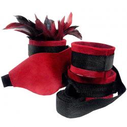 Сладкое рабство - Набор для BDSM Sportsheets - Sexy Slave Kit, цвет: черно-красный