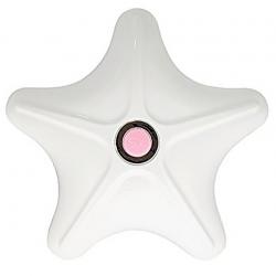 Звезда чувственной страсти - Вибростимулятор -  Rocks Off Body-Star, цвет: бело-розовый