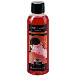 Клубничные ласки - Съедобное массажное масло LUXURY BODY OIL - edible oil - клубника - 100ml