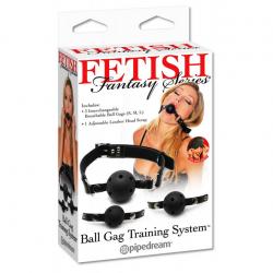 Подарит захватывающие ощущения - Набор кляпов Ball Gag Training System