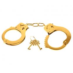 Окунут в мир БДСМ наслаждения - Металлические наручники FF GOLD METAL CUFFS