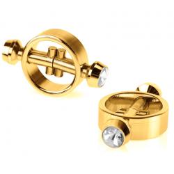 Добавит ярких впечатлений - Зажимы для сосков FF GOLD MAGNETIC NIPPLE CLAMPS