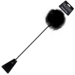Откроет новые границы удовольствия - Стек - шлепалка Feather Crop, цвет: черный