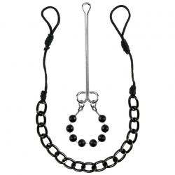 Незабываемые яркие впечатления - Набор Nipple & Clit Jewelry, цвет: черный