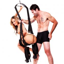 Подарит новые возможности - Секс-качели FF SPINNING FANTASY SWING, цвет: черный