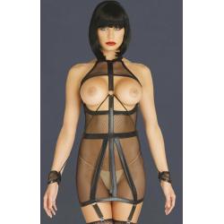 Все внимание на тело - Бандажное платье Bondage Garter Dress, цвет: черный