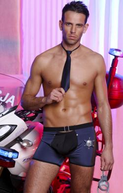 Сексуальный мужской комплект: боксеры и галстук, цвет: черно-синий