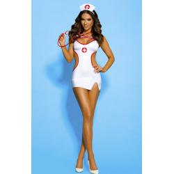 Сексапильная медсестричка -  Костюм медсестры для ролевых игр, цвет: белый