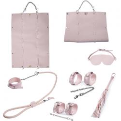 Гламурная пытка - БДСМ-набор, цвет: нежно-розовый