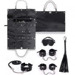 Роскошная агрессия - БДСМ-набор, цвет: черный