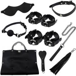 Горячее приключение - Набор для БДСМ-сессии, цвет: черный
