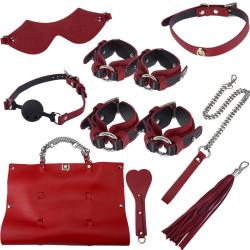 Страстное доминирование - Набор для БДСМ-сессии, цвет: черно-красный