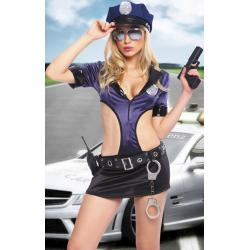 Нежные руки закона - Костюм полицейской для ролевых игр, цвет: черно-серый