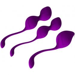 Грациозный тренажер - Набор вагинальных шариков (тренажер), цвет: фиолетовый