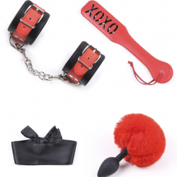Умелый мучитель - Набор для БДСМ-игр, цвет: черно-красный