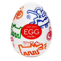 Максимум удовольствия - Мастурбатор Tenga Keith Haring EGG Street, цвет: прозрачный