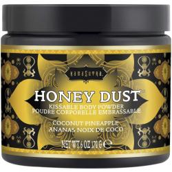 Для любителей оральных ласк - Пудра для тела со вкусом кокоса и ананаса  Honey Dust Body Powder 170g