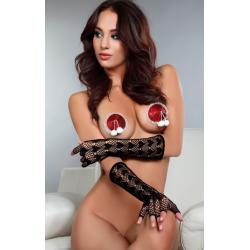 Игривые помпончики - Налепки на соски - Nipple model 19 Livia Corsetti Fashion, цвет: красный