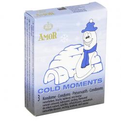 Презервативы с охлаждающим эффектом AMOR Cold Moments, 3 шт.