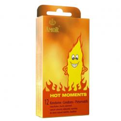 Cогревающие презервативы AMOR Hot Moments, 12 шт.
