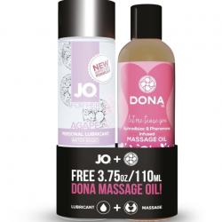 Для массажа и секса - Подарочный набор - System JO - Jo Agape, 120ml + DONA Flirty Massage, 110ml