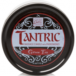 Возбуждающий аромат чая - Массажная свеча Green Tea Tantric Candle w. Pheromones
